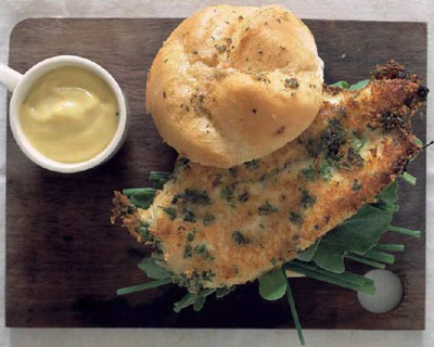 Parmesan-crusted-chicken-burgers