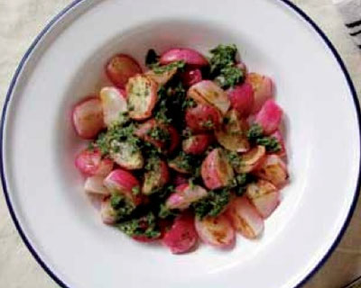 Seared-radishes